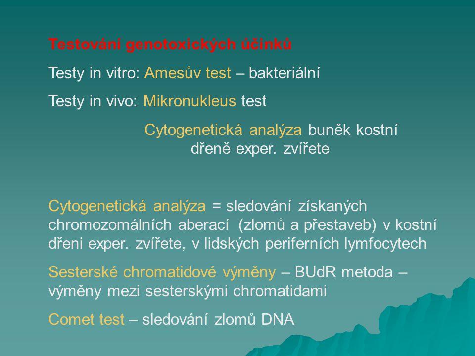 Testování genotoxických účinků