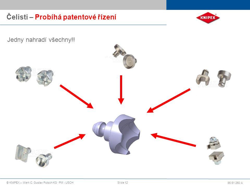 Čelisti – Probíhá patentové řízení