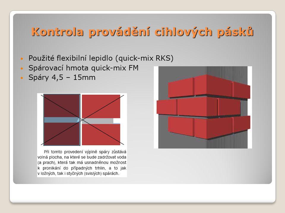 Kontrola provádění cihlových pásků