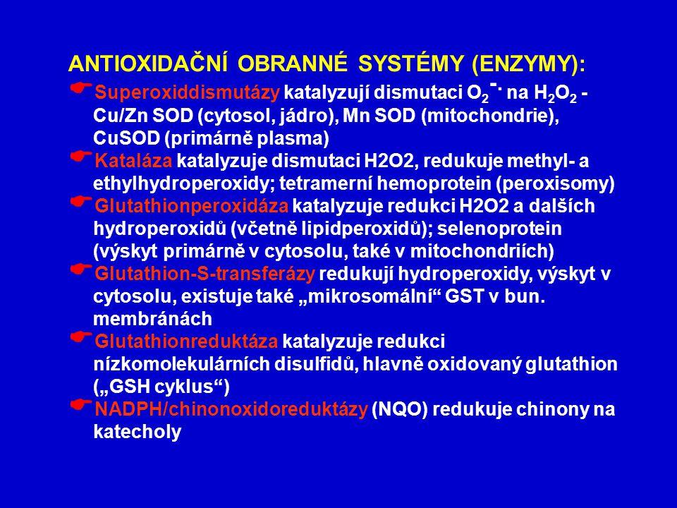ANTIOXIDAČNÍ OBRANNÉ SYSTÉMY (ENZYMY):