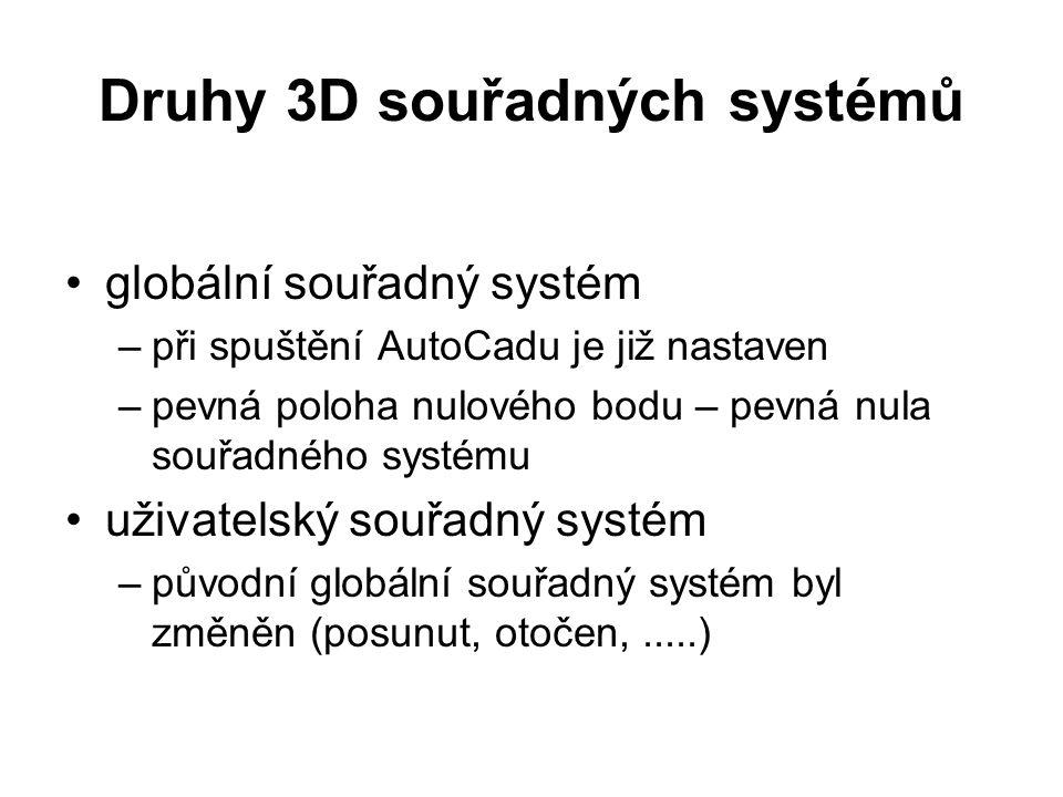 Druhy 3D souřadných systémů