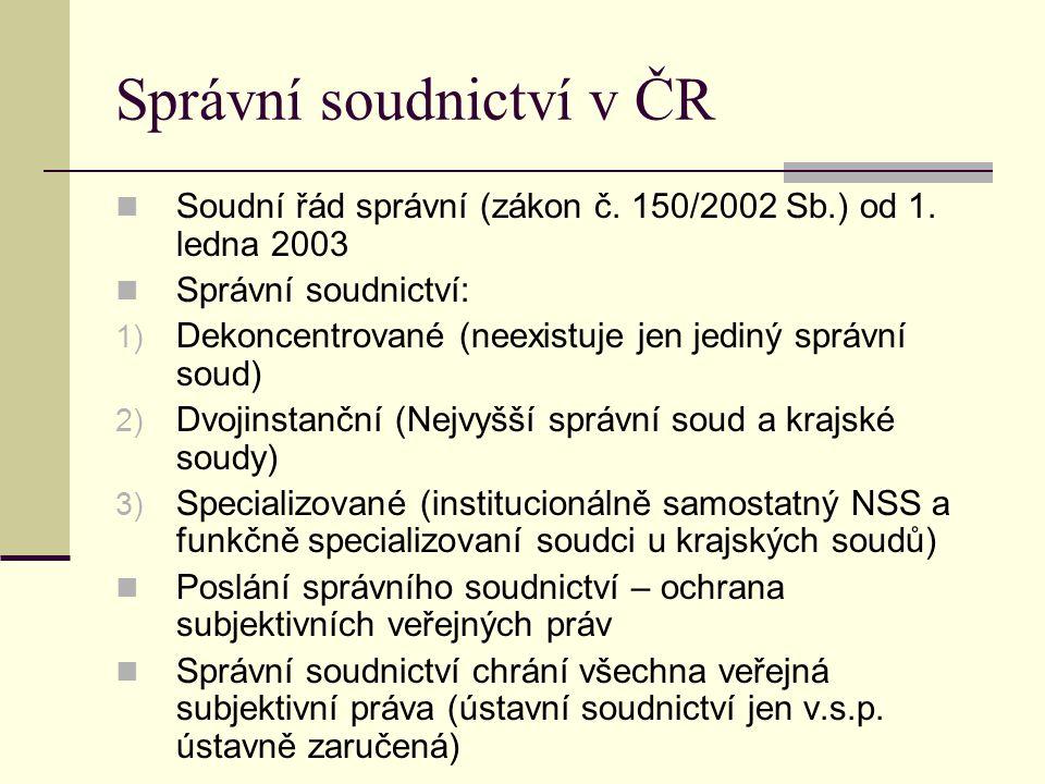Správní soudnictví v ČR
