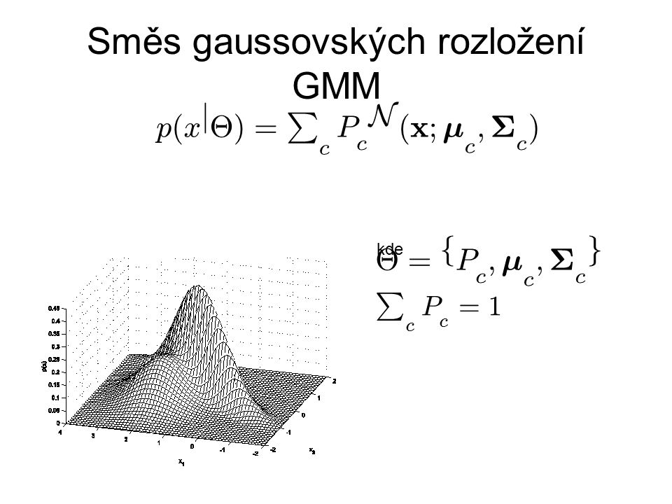 Směs gaussovských rozložení GMM