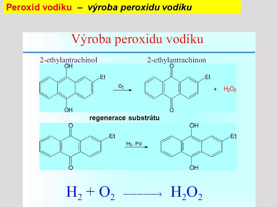 Peroxid vodíku – výroba peroxidu vodíku