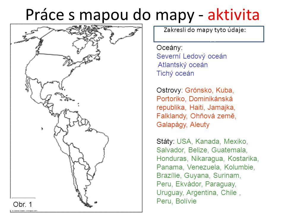 Práce s mapou do mapy - aktivita