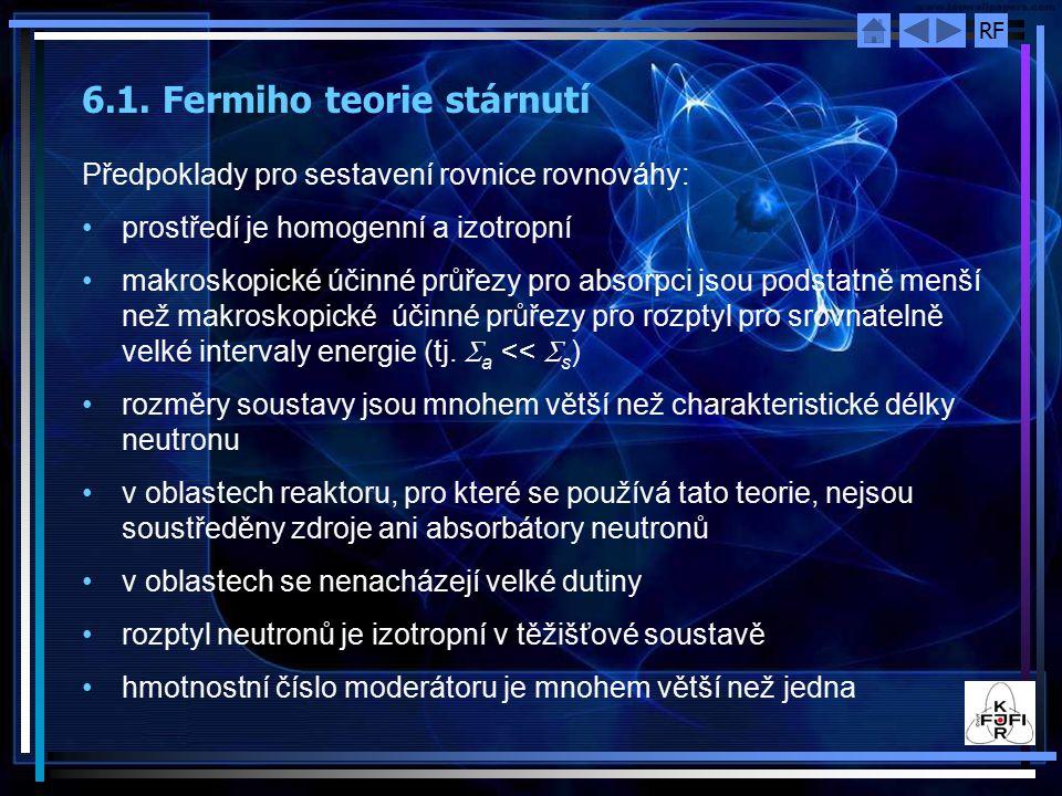 6.1. Fermiho teorie stárnutí