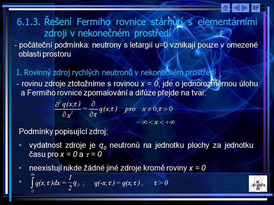 6. 1. 3. Řešení Fermiho rovnice stárnutí s elementárními