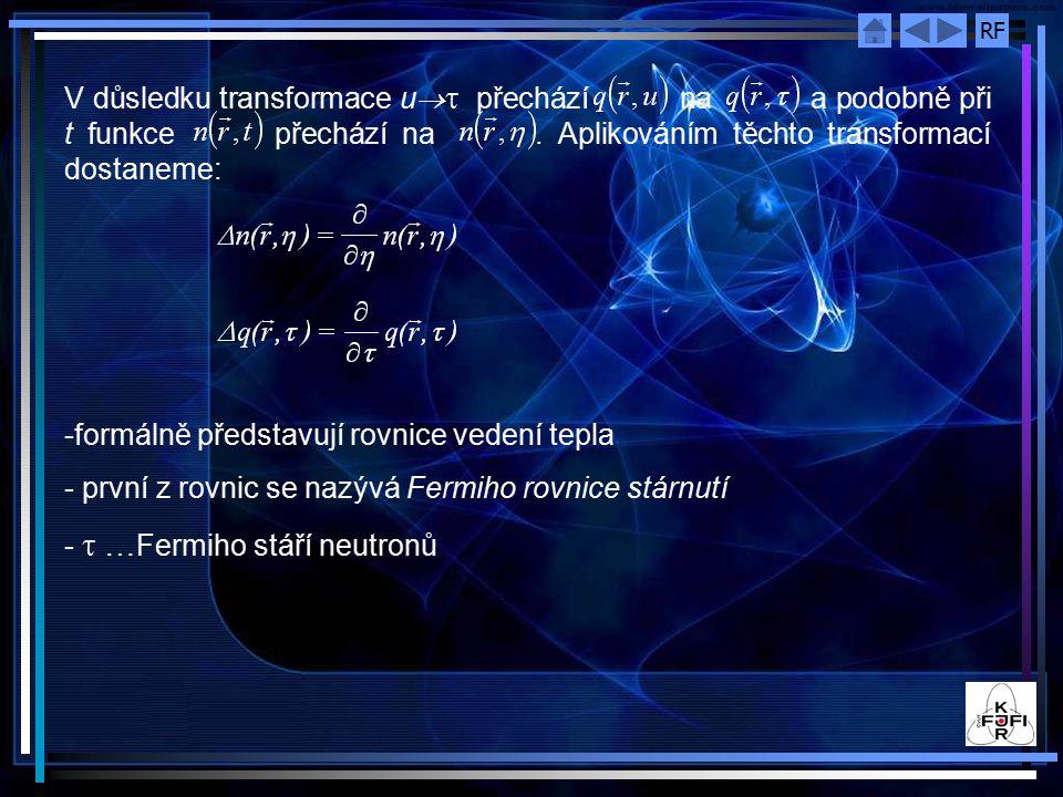 V důsledku transformace u®t přechází na a podobně při t funkce přechází na . Aplikováním těchto transformací dostaneme:
