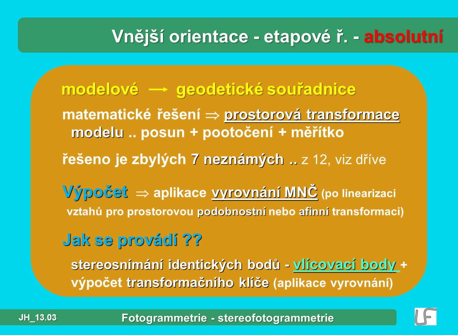 Fotogrammetrie - stereofotogrammetrie