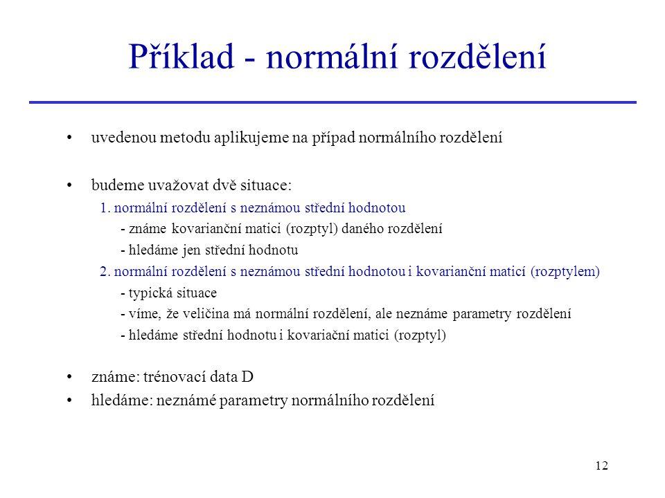 Příklad - normální rozdělení