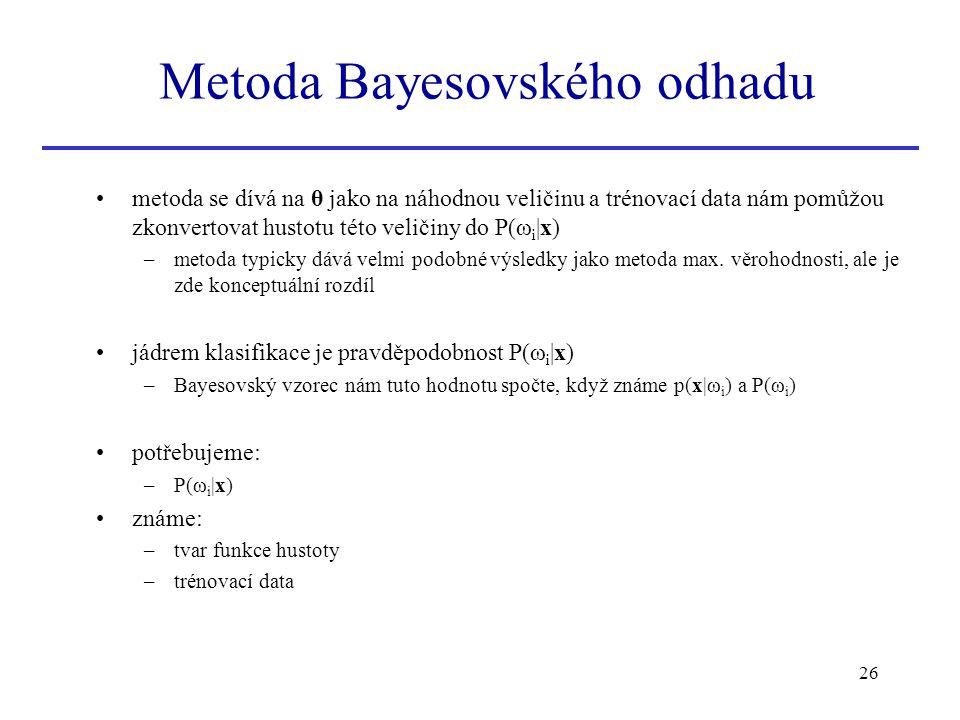 Metoda Bayesovského odhadu
