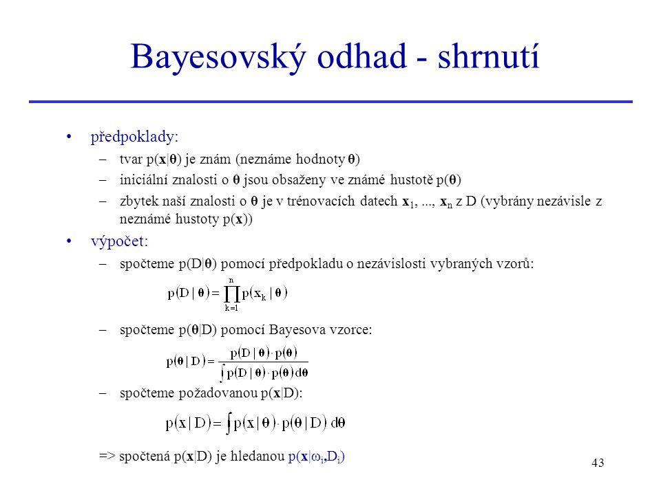 Bayesovský odhad - shrnutí