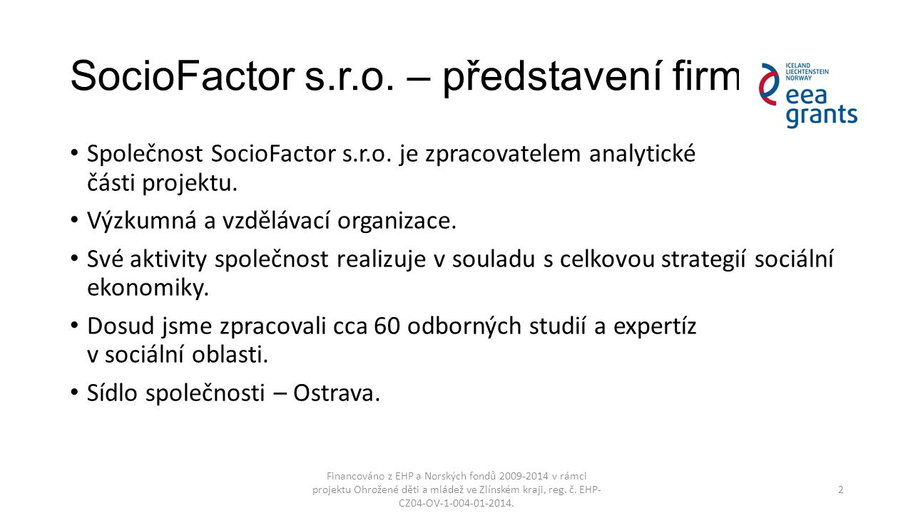 SocioFactor s.r.o. – představení firmy