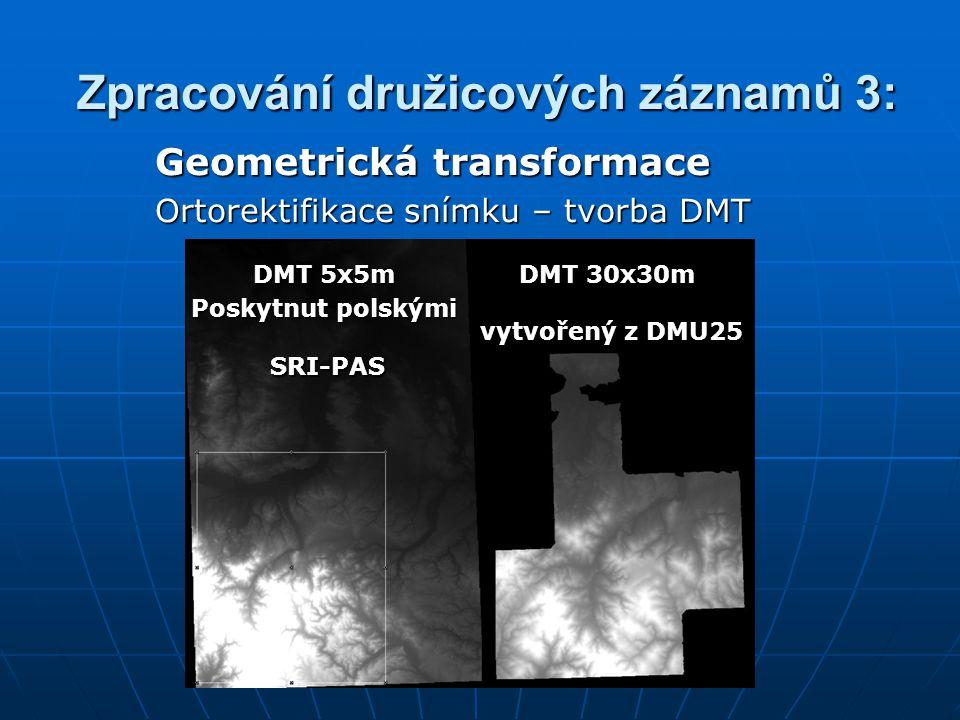 Zpracování družicových záznamů 3: