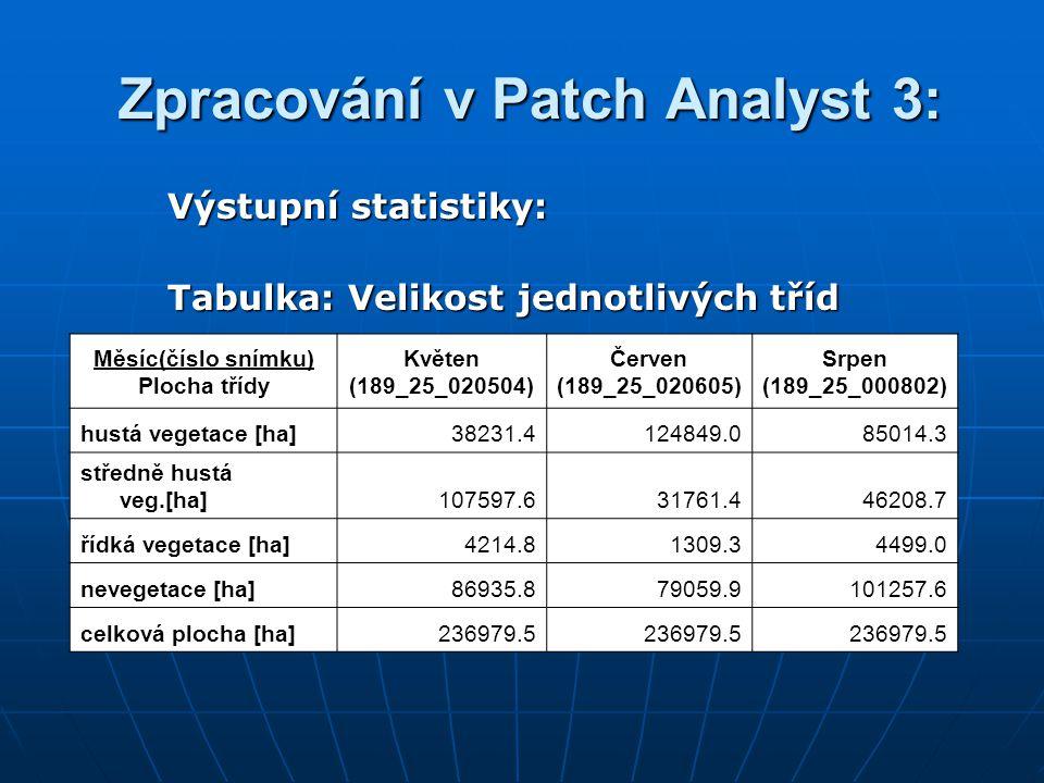 Zpracování v Patch Analyst 3: