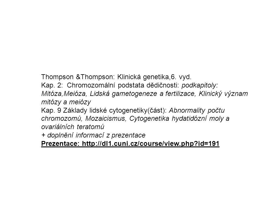 Thompson &Thompson: Klinická genetika,6. vyd.