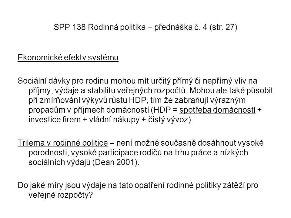 SPP 138 Rodinná politika – přednáška č. 4 (str. 27)