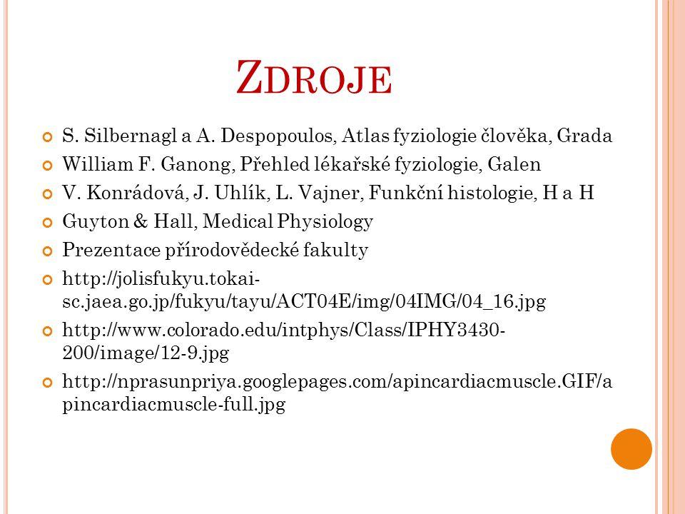 Zdroje S. Silbernagl a A. Despopoulos, Atlas fyziologie člověka, Grada
