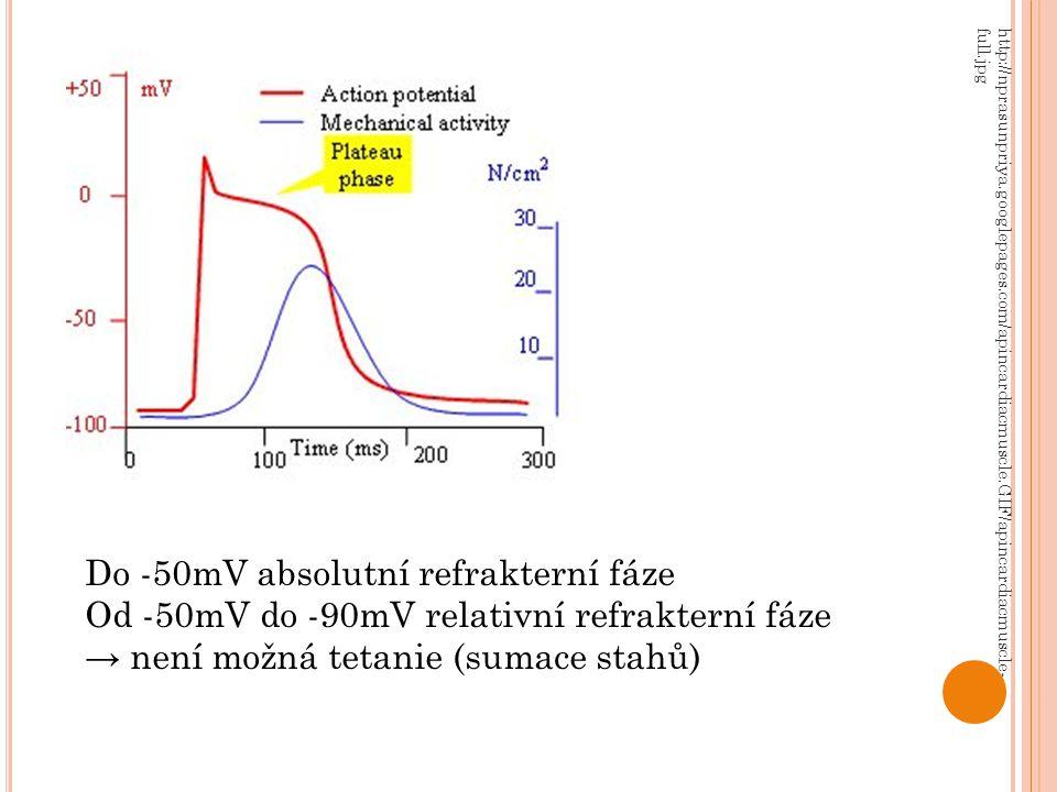 Do -50mV absolutní refrakterní fáze