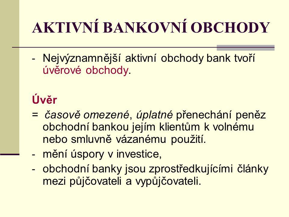 AKTIVNÍ BANKOVNÍ OBCHODY