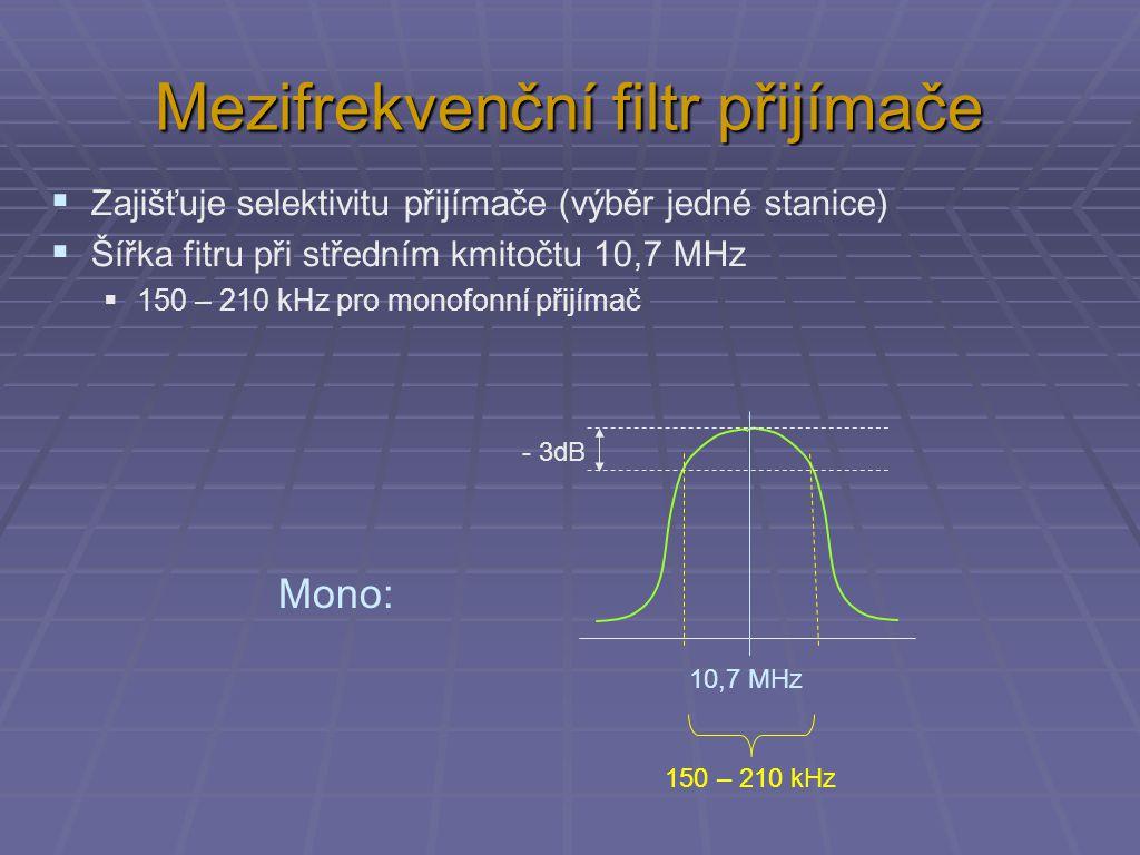 Mezifrekvenční filtr přijímače