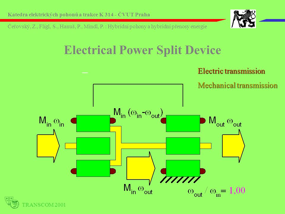 Electrical Power Split Device
