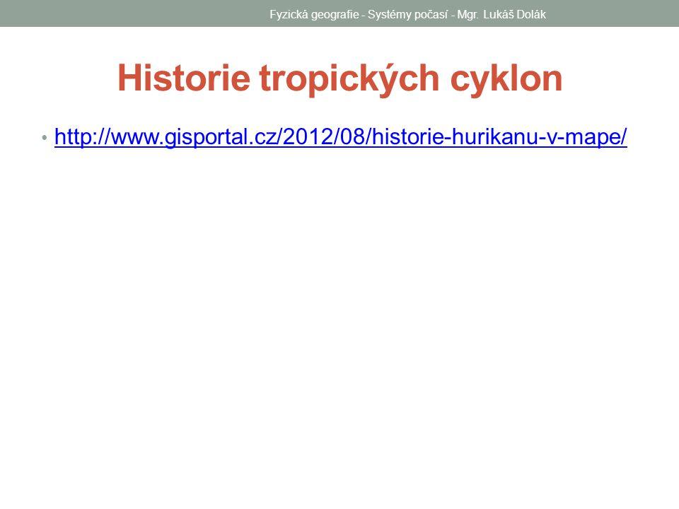 Historie tropických cyklon