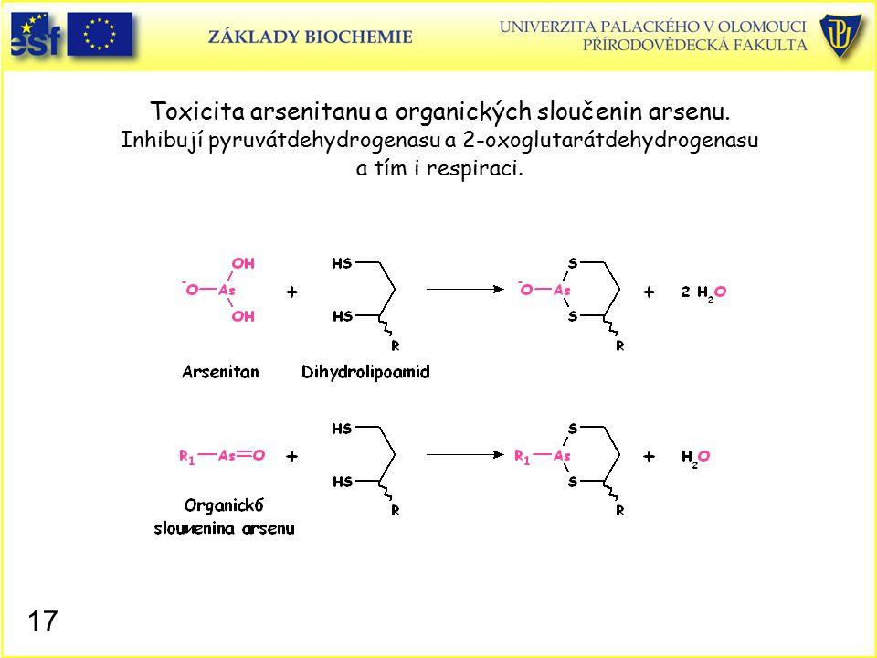 Toxicita arsenitanu a organických sloučenin arsenu