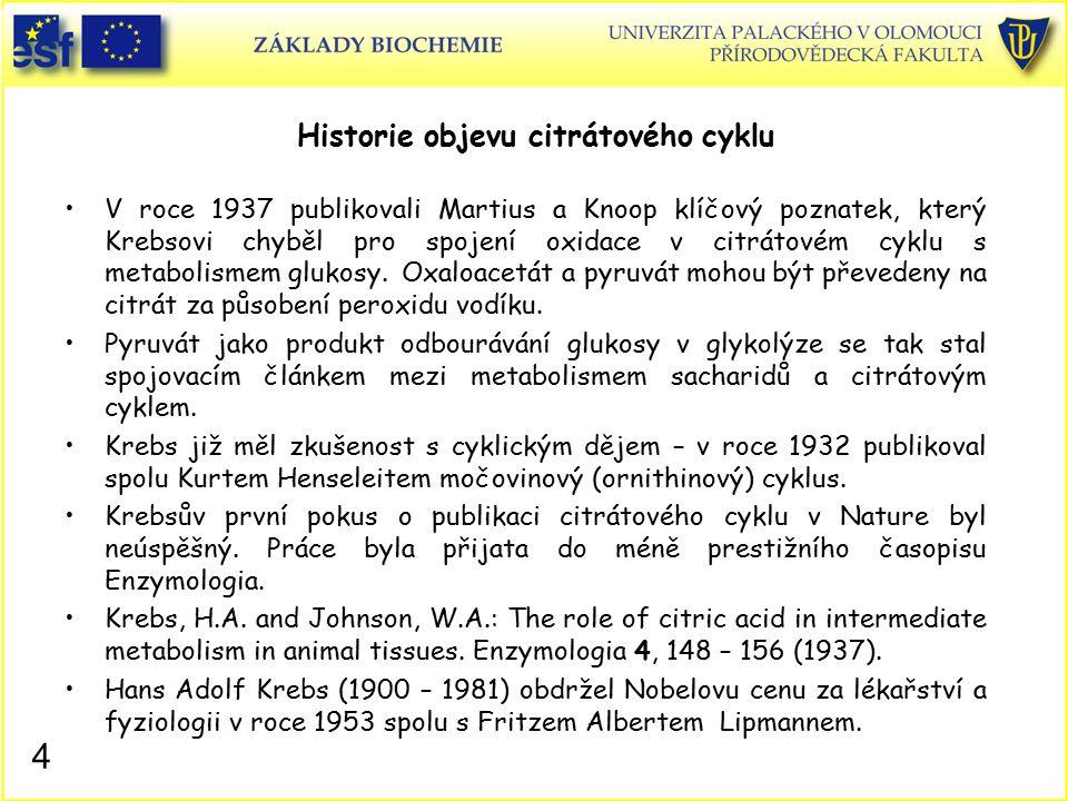 Historie objevu citrátového cyklu