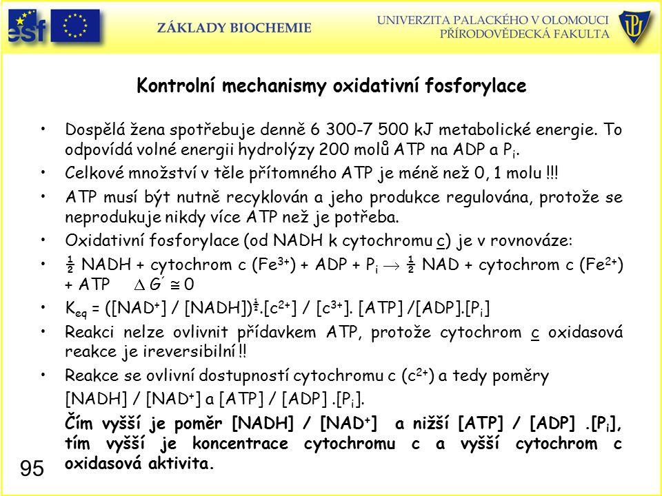 Kontrolní mechanismy oxidativní fosforylace