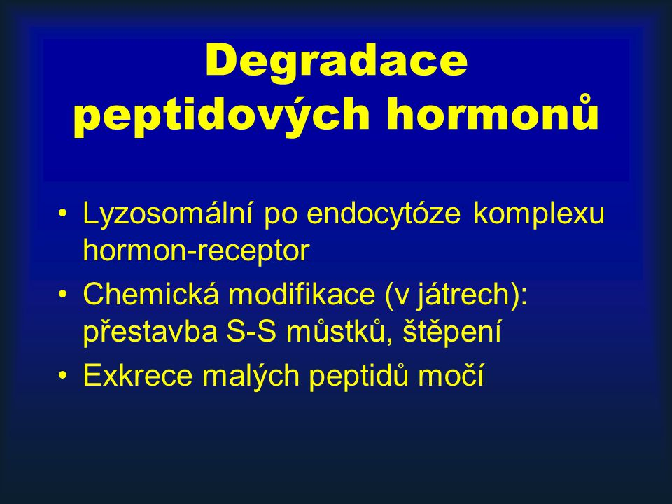Degradace peptidových hormonů
