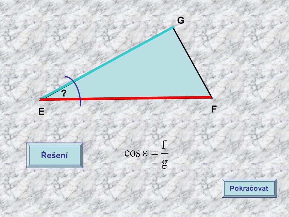 G F E Řešení Pokračovat