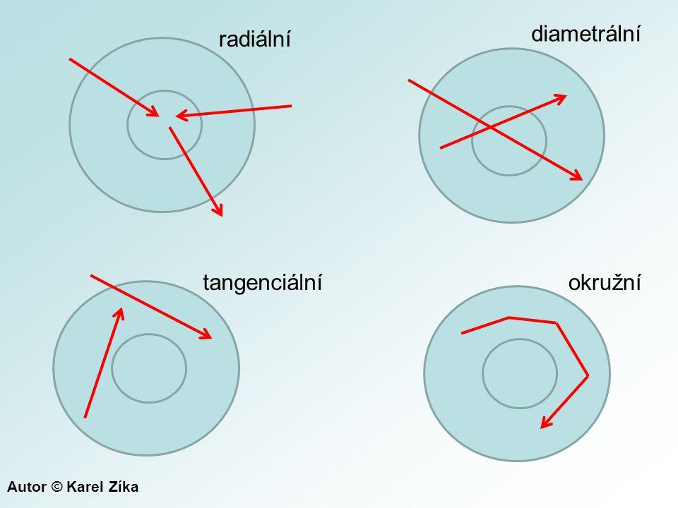 diametrální radiální tangenciální okružní Autor © Karel Zíka