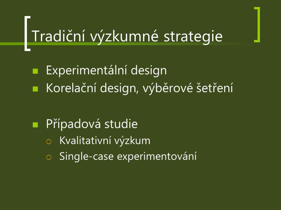 Tradiční výzkumné strategie