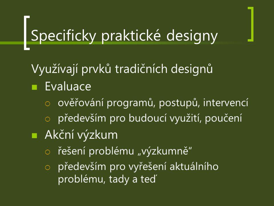 Specificky praktické designy