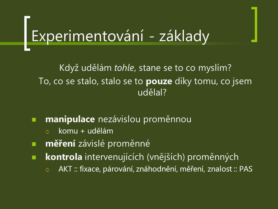 Experimentování - základy