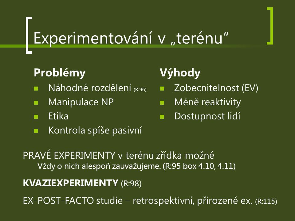 """Experimentování v """"terénu"""