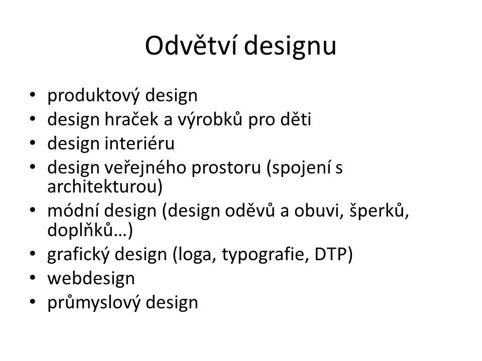 Odvětví designu produktový design design hraček a výrobků pro děti
