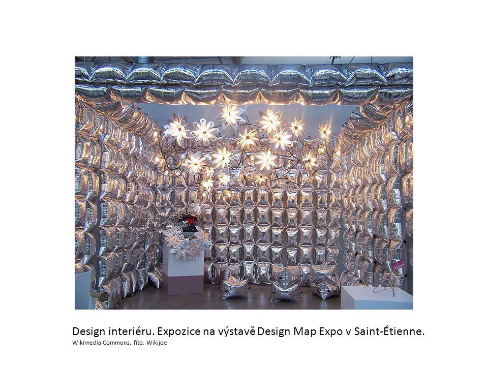 Design interiéru. Expozice na výstavě Design Map Expo v Saint-Étienne