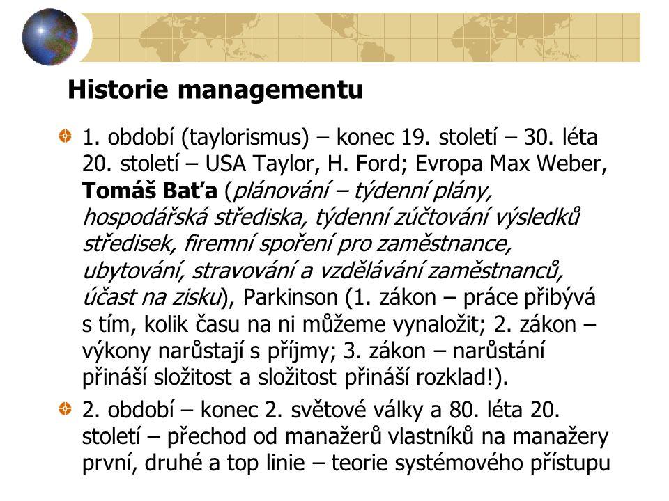 Historie managementu
