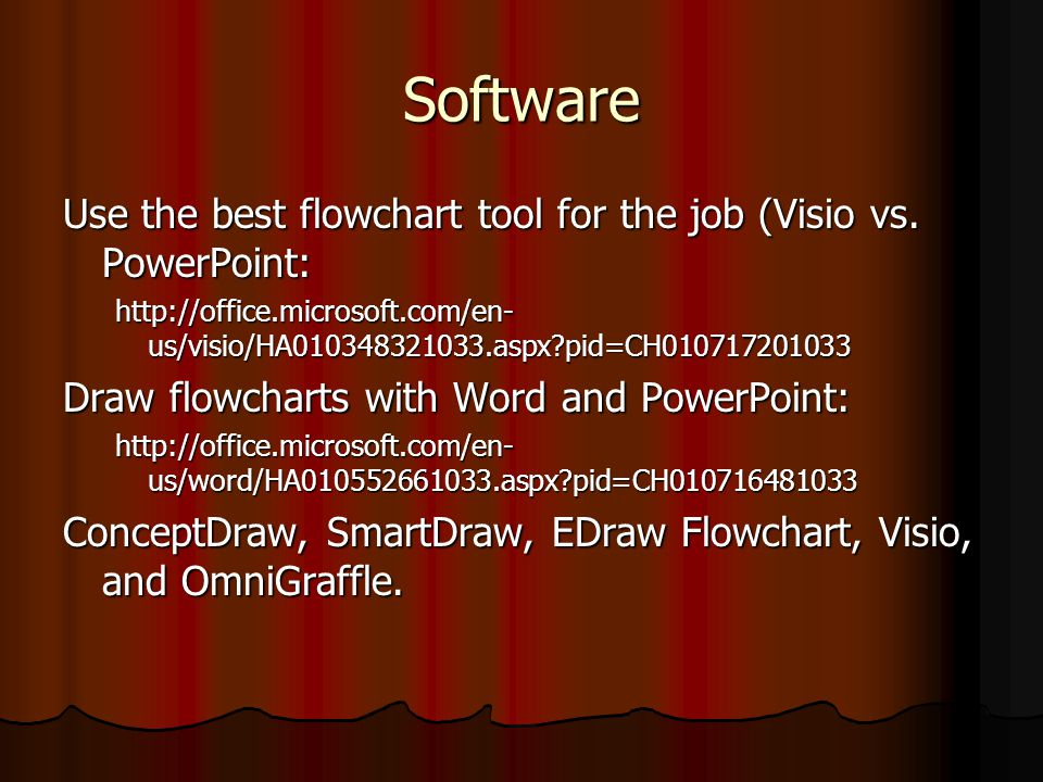Software Use the best flowchart tool for the job (Visio vs. PowerPoint: