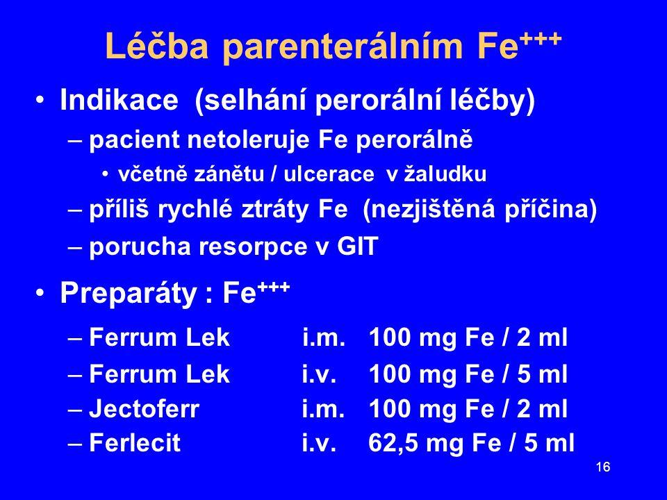 Léčba parenterálním Fe+++