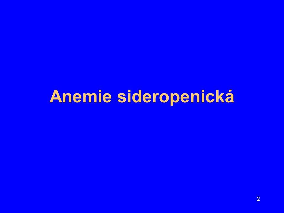 Anemie sideropenická