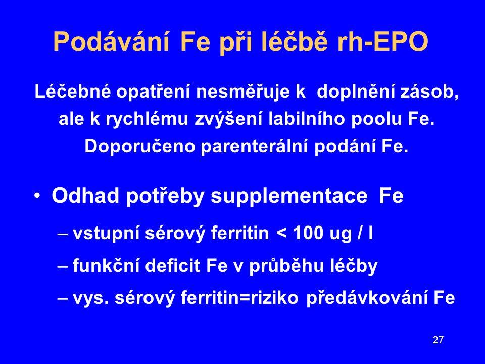 Podávání Fe při léčbě rh-EPO