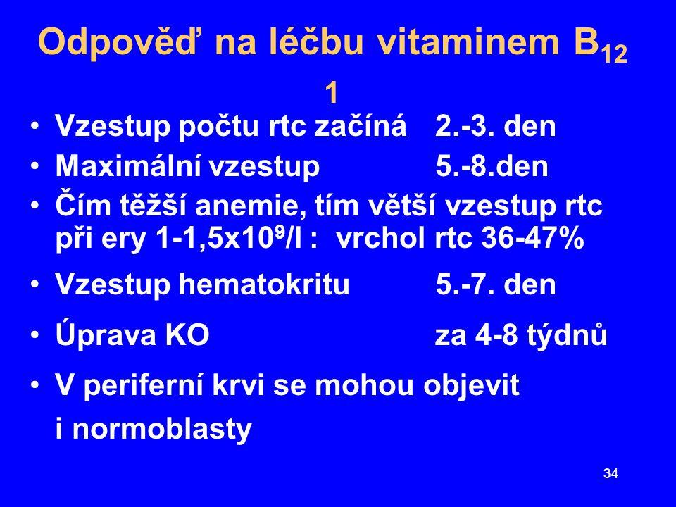 Odpověď na léčbu vitaminem B12 1