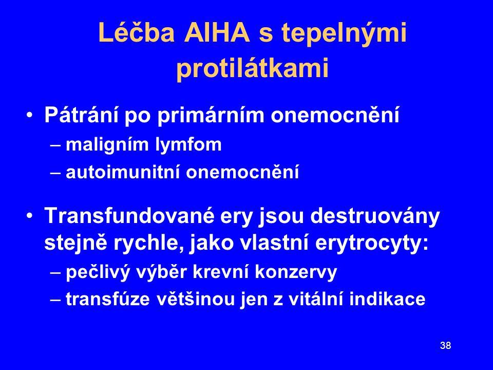 Léčba AIHA s tepelnými protilátkami