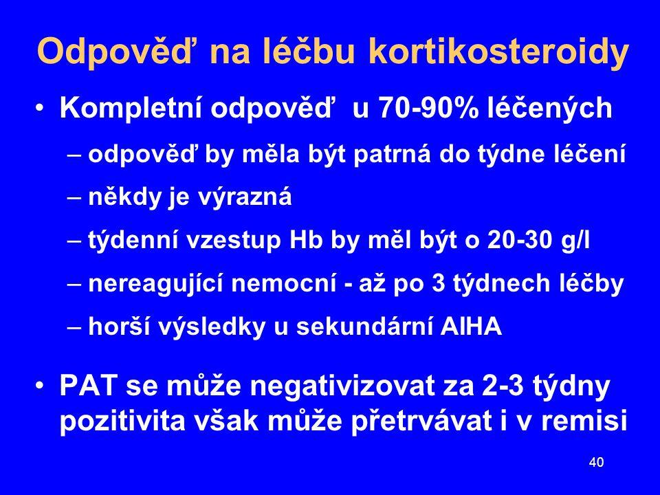 Odpověď na léčbu kortikosteroidy