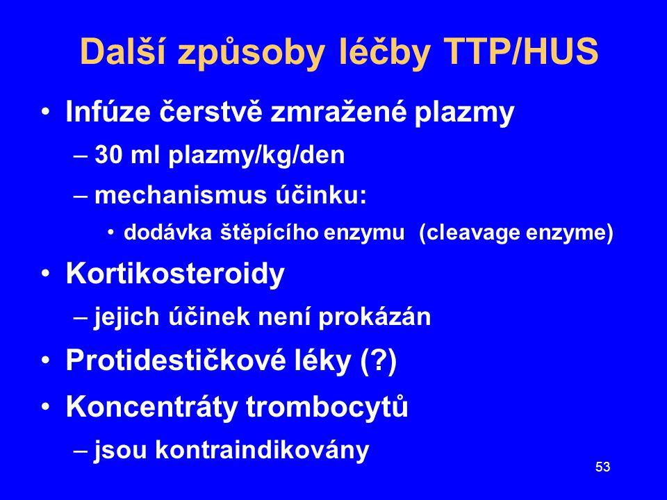Další způsoby léčby TTP/HUS