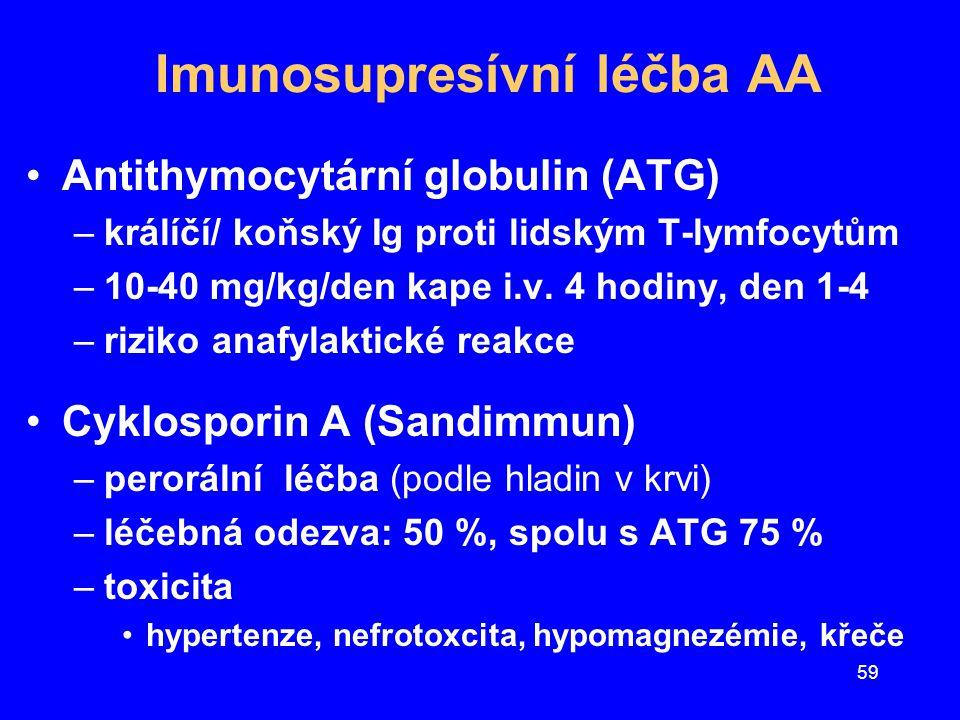 Imunosupresívní léčba AA