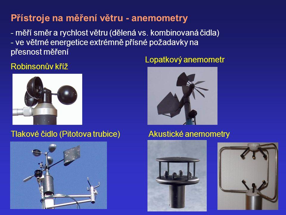 Přístroje na měření větru - anemometry